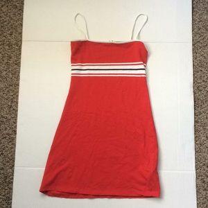 Pull&Bear Red Striped Tube Dress
